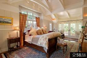 美式风格卧室实木床图片
