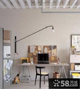 复式楼素雅气息书房装修效果图大全2012图片