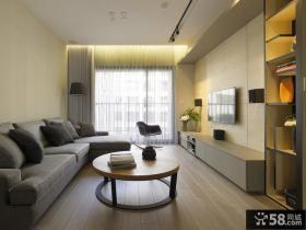 现代风格两室两厅客厅装修效果图欣赏大全