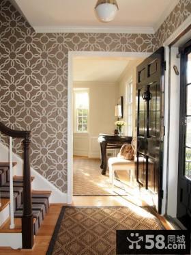 别墅进门玄关装饰效果图