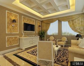简欧风格客厅电视背景墙效果图