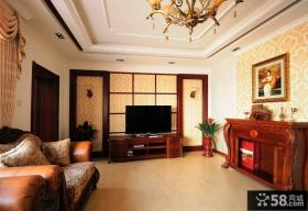 美欧设计客厅电视背景墙图片大全