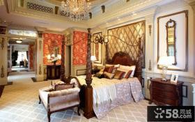 法式风格豪华私人别墅卧室装修效果图大全