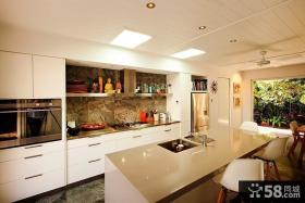 欧式风格别墅厨房橱柜装修效果图大全2012图片