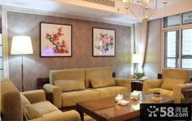 客厅沙发背景墙中式壁纸贴图