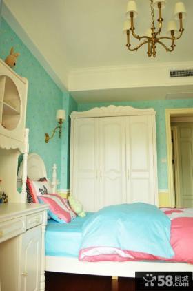简欧风格儿童卧室衣柜图片