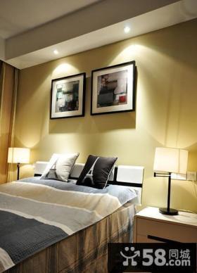 后现代风格卧室背景墙装饰画