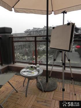 室外生活阳台设计效果图