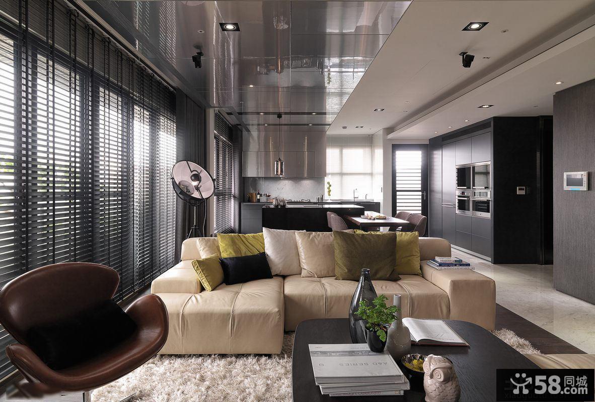 现代风格别墅客厅高档装修图片