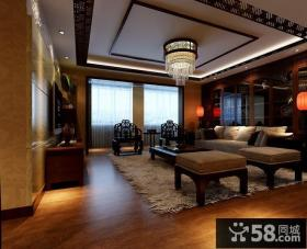 中式别墅内景装修效果图