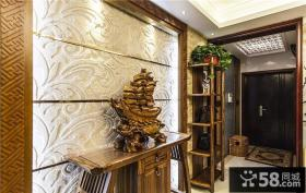 中式曲柳木玄关设计