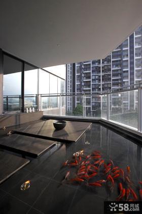 阳台玻璃护拦设计效果图