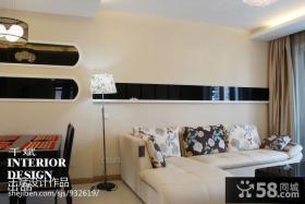 现代风格客厅拐角沙发图片欣赏