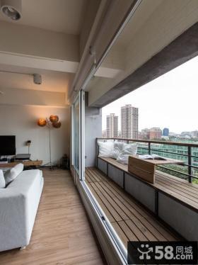 简约风格客厅阳台装修实景图