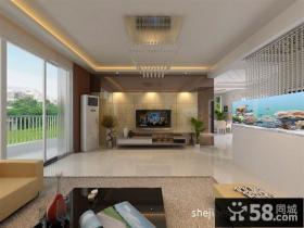 阳光半岛客厅吊顶装修效果图 现代风格背景墙装修
