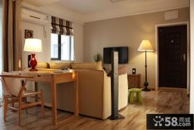小户型现代风格两室两厅客厅电视背景墙