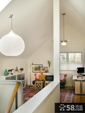美式家装设计室内阁楼效果图大全