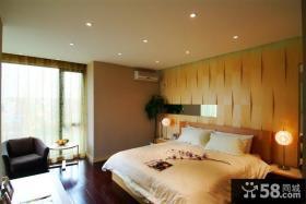 现代风格卧室床头背景墙装修效果图片