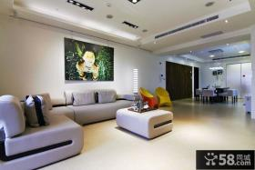 120平米现代风格三室一厅装修图片