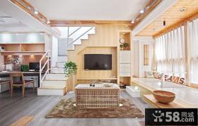 日式小户型复式楼装修效果图大全