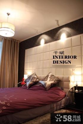 现代风格90平米两室两厅装修主卧室效果图