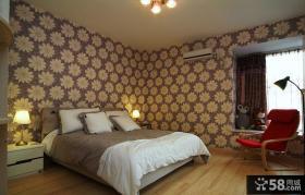 时尚卧室墙纸装修效果图欣赏