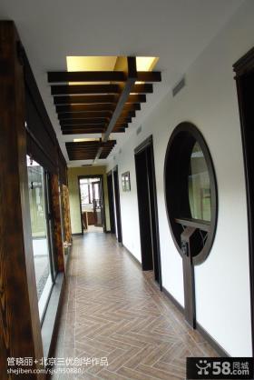 中式风格过道吊顶装饰设计