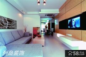 现代风格客厅沙发挂画效果图