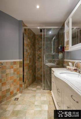 美式风格家庭设计卫生间效果图大全