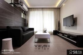 现代简约客厅电视背景墙效果图大全2013图片