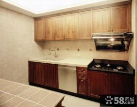 美式乡村风格家装砖砌厨房间效果图