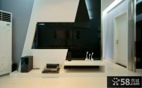 现代简装电视背景墙设计图
