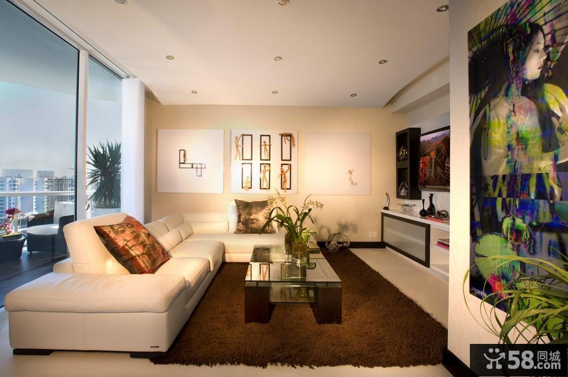 最新现代简约欧式风格客厅设计图片