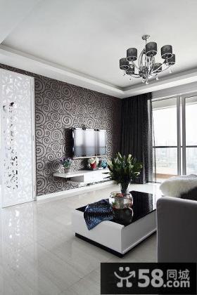 简欧设计装修客厅电视背景墙效果图大全