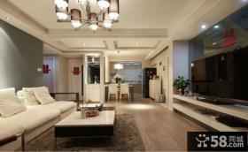 现代风格室内客厅吊顶设计