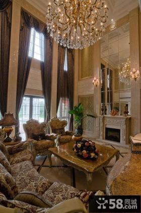 豪华巴洛克欧式客厅装饰设计