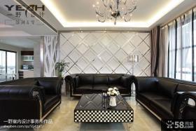 现代风格沙发软包背景墙效果图