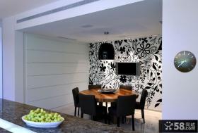 餐厅电视背景墙壁纸图片