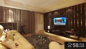 现代风格装修客厅电视背景墙设计效果图