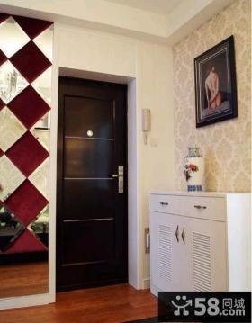 日式家居风格玄关鞋柜玄关壁纸装修效果图