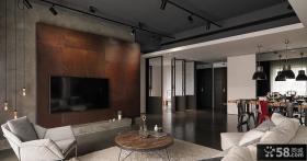 2015现代风格装饰客厅电视背景墙效果图