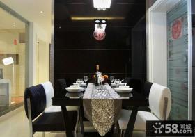 现代简约风格两室两厅餐厅装修图片
