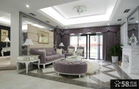 时尚欧式家装客厅吊顶装修效果图