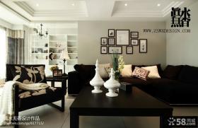 家庭装修效果图客厅沙发背景墙设计