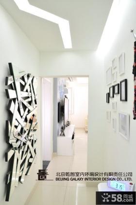 现代风格过道墙面背景墙效果图