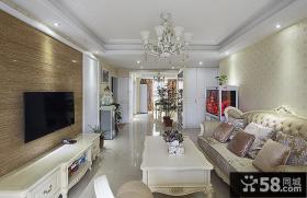 豪华欧式装修客厅电视背景墙
