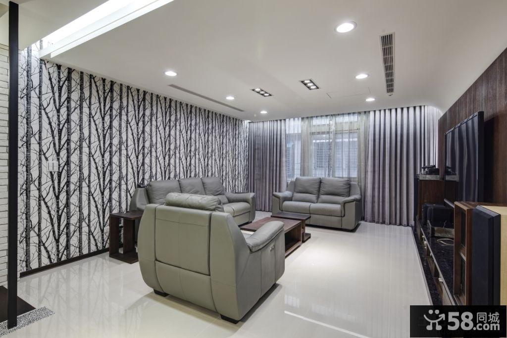 现代简装家庭客厅装修效果图