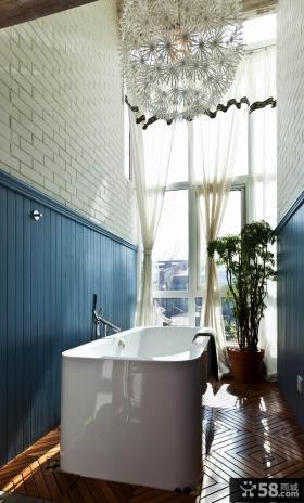 地中海风格别墅浴室装修效果图