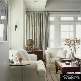 素雅的客厅窗帘装修效果图