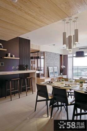 现代家庭100平米两室一厅装修效果图